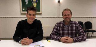 Lars-Kristian Eriksen og Odd Olav Aamodt Leder for Tune IL Fotball signerer trenerkontrakt for sesongen 2018.